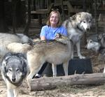 Wolf pictures, with caretaker Picture