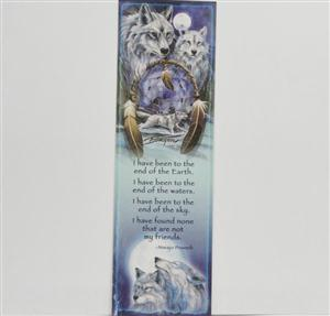 Beautiful artwork on this Wolf bookmark.