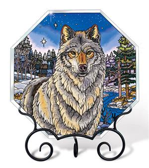 Absolutely gorgeous Wolf tabletop decor