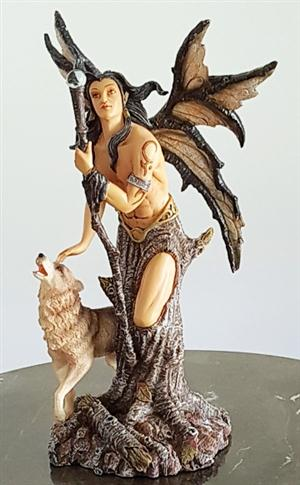 New beautiful Wolf with male Fairy figurine for 2017.