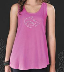 Great looking Junior's Wolf Tank Top.