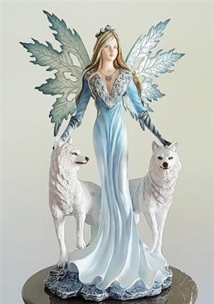 Gorgeous, very large Wolf and Fairy Figurine for 2017.