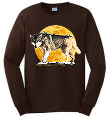 This is a cool Long Sleeve Wolf T Shirt design.