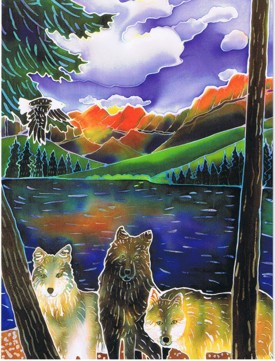 Grear new design on this Wolf Birthday card.