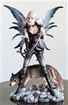 View details for this Fairy Archer with Wolf Figurine