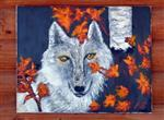 View details for this Autumn Wolf Oil Painting