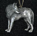 Backwards Glance Wolf Necklace