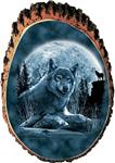 View details for this Big Moon Wolves Cedar Plaque