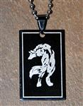 View details for this Black Steel Wolf Neck Chain