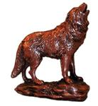 View details for this Copper Wolf figurine