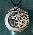 View details for this Crescent Moon Wolf Necklace