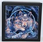 Dream Wolf Wooden Box
