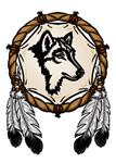 View details for this Wolf Dreamcatcher Temporary Tattoo