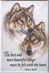 View details for this Felt with the Heart Wolf Magnet