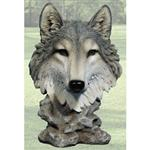 View details for this Wolf Bust Figurine