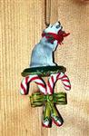View details for this Gray Wolf Candy Cane ornament