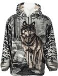 Handsome Wolf Hooded Jacket - L