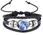 View details for this Howling Wolf Leather Bracelet
