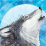 View details for this Howling Wolf Canvas