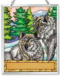 View details for this Mating Pair Wolf Sun catcher