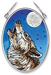 View details for this Midnight Song Wolf Window Art