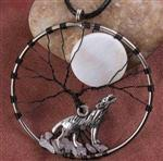 Moon Song Wolf Necklace