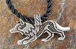 View details for this Play Bow Wolf Necklace