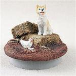 Red Husky Topper Figurine