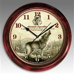 View details for this Signature Series Gray Wolf Wall Clock