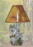 Silver Light Wolf Lamp