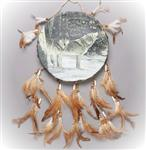 View details for this Singing Wolf Drum Wall Hanging