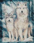 Soulmates Wolf Throw Blanket