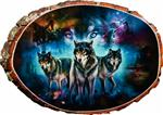 View details for this Three Wolves Cedar Plaque