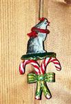 Timber Wolf Candy Cane ornament