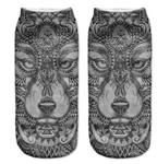 Tribal Wolf Low Cut Socks