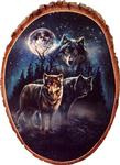 View details for this Twilight Protectors Wolf Cedar  Plaque