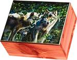 View details for this Undercover Wolves Small Cedar Box