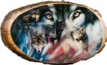 View details for this USA Flag Wolves Cedar Plaque