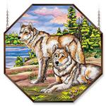 View details for this Watchful Pause Wolf Window Panel