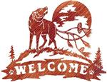 View details for this Wolf Welcome Metal Wall Art
