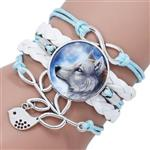 View details for this White Wolf Leather Bracelet
