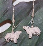 View details for this White Wolf Wire Earrings