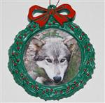 View details for this Wolf Wreath Ornament - Woha