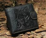View details for this Wolf Black Leather Wallet