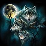 Wolf Family Collage Puzzle