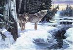 Wolf Howl Christmas Cards