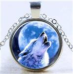 View details for this Wolf Howl Necklace
