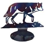Wolf Large Metal Candle Holder