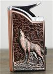 Wolf Copper Tone Lighter