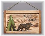 View details for this Wolf Lodge Sign